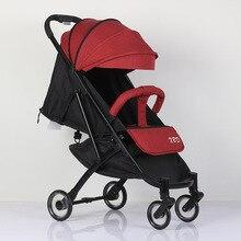 abdo Baby Stroller Plane Lightweight Portable Travelling Pram Light Luxury Can Sit And Lie Baby Folding Umbrella Stroller