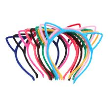 10PC Hot Sale Cat Ears Baby Girl Headbands Korean Baby Girl Hair Accessories for Women Fashion Hairband for Girls 18k pure gold ring bead rose 750 genuine female girl miss gift wear fine jewelry trendy 2017 new hot sale top discount good