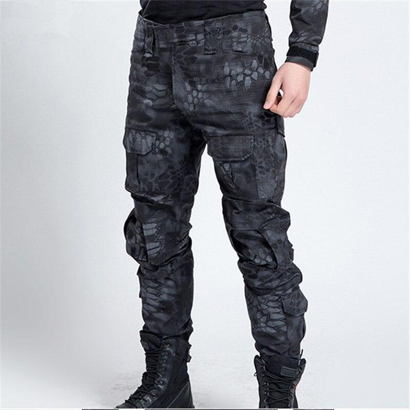 Pantalones de camuflaje militar táctico para hombre de los hombres ocasionales a prueba de viento impermeable caliente camo paintball ejército pantalones para hombre 11 colores