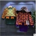 Korean children 2016 girls sweater suit children bow sweater knitted skirt suit pattern free shipping