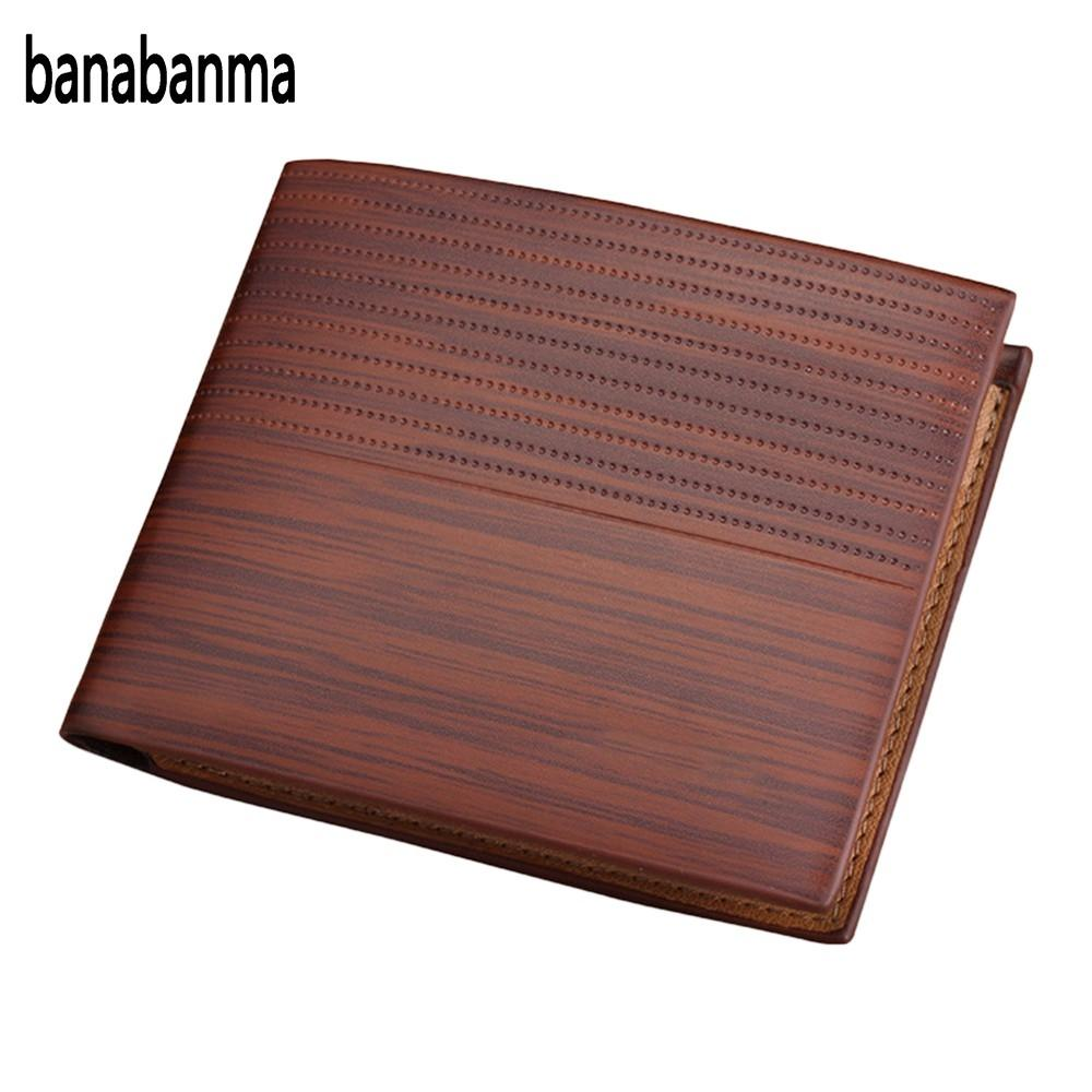 banabanma Hot Sale Men Soft TOP Leather Business Short Wallet Male's 3 Layer Folded Vintage Design High Quality With Card ZK35 hot sale cotton solid men tank top