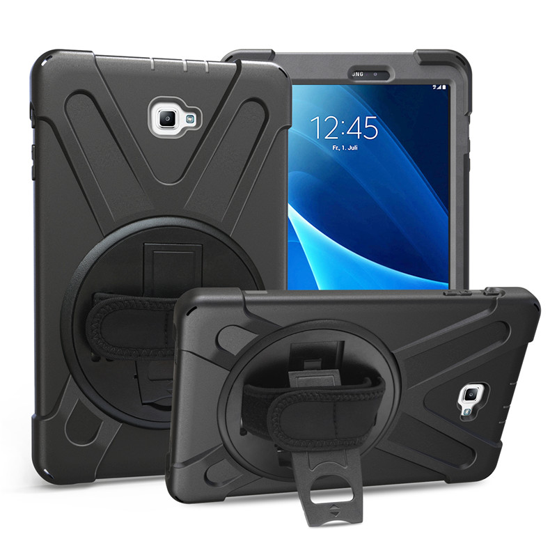 For SM-T580 Kids Safe Shockproof Heavy Duty Silicone Stand Cover for Samsung galaxy Tab A 10.1 SM-T585 Hand hold Shoulder Strap