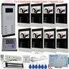 8 Unit Apartment Doorbell Video Intercom Apartment Intercom Entry System 4 3 LCD Video Door Phone