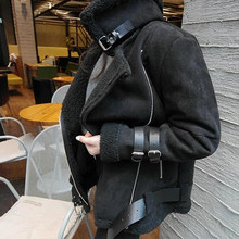 2018 marke Designer Mode Frauen Pelz Jacken Mäntel Winter Samt Automotive Pelz Lammfell Graben Mantel Frauen Kleidung C1704(China)