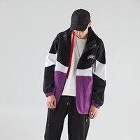 Fashion Men's Hooded Parkas Plus Velvet Men's Winter Jacket Hit Color Patchwork Keep Warm Comfortable Jackets Coat