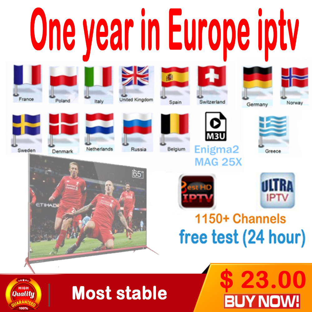 1 Year Europe Italy Arabic IPTV 1150+ 12 Months server 2000 Live TV IPTV M3U ENIGAM2 Androd IPTV ITALY German French Spain UK IT