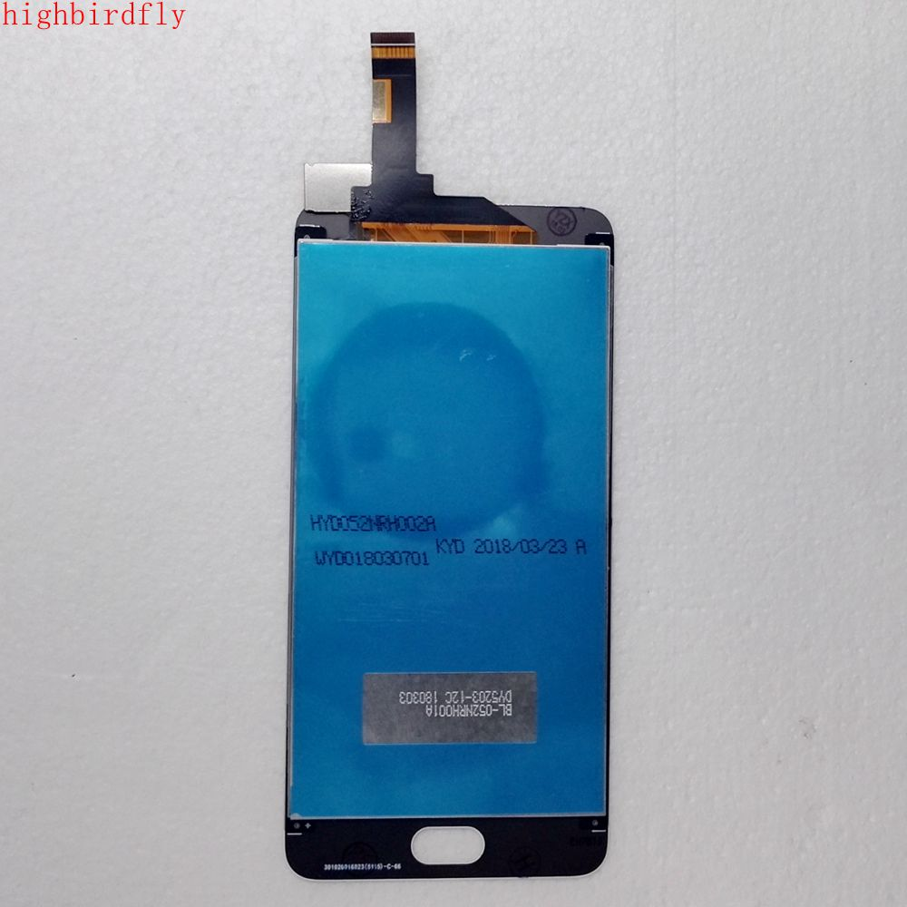 Highbirdfly para Meizu M6 M711H M711M M711Q Lcd pantalla + Touch Glass DIgitizer marco Asamblea 5,2