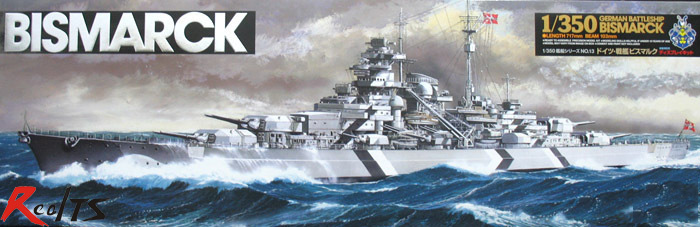 RealTS 78013 TAMIYA WWII German Bismarck Battleship War Ship Model Kit 1/350