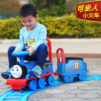 Children's toy train child electric car child baby walker can sit people baby stroller toy car