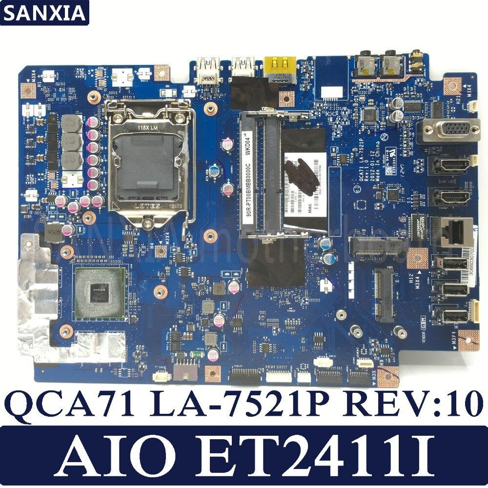 KEFU QCA71 LA-7521P REV:10 AIO PC motherboard for ASUS ET2411I ET2411 Test onboard mainboard стоимость