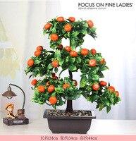 Large Size green plant pot imitation flower plastic artificial tree fruit tree living room bonsai simulation .