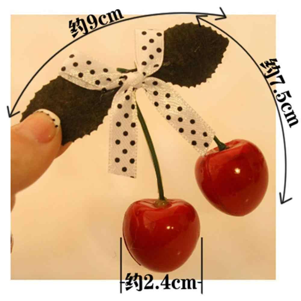 Vrouwen Cherry Boog Haarspelden Dames Koreaanse Stijl Leuke Haar Clip Meisjes Vintage Haar Grip Hoofddeksels Mooie Haaraccessoires