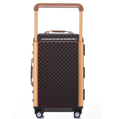 Алюминиевая рама Дорожный чемодан тележка капот на колесиках, чемодан на колесиках, замок TSA bavul mala de viagem maletas carro