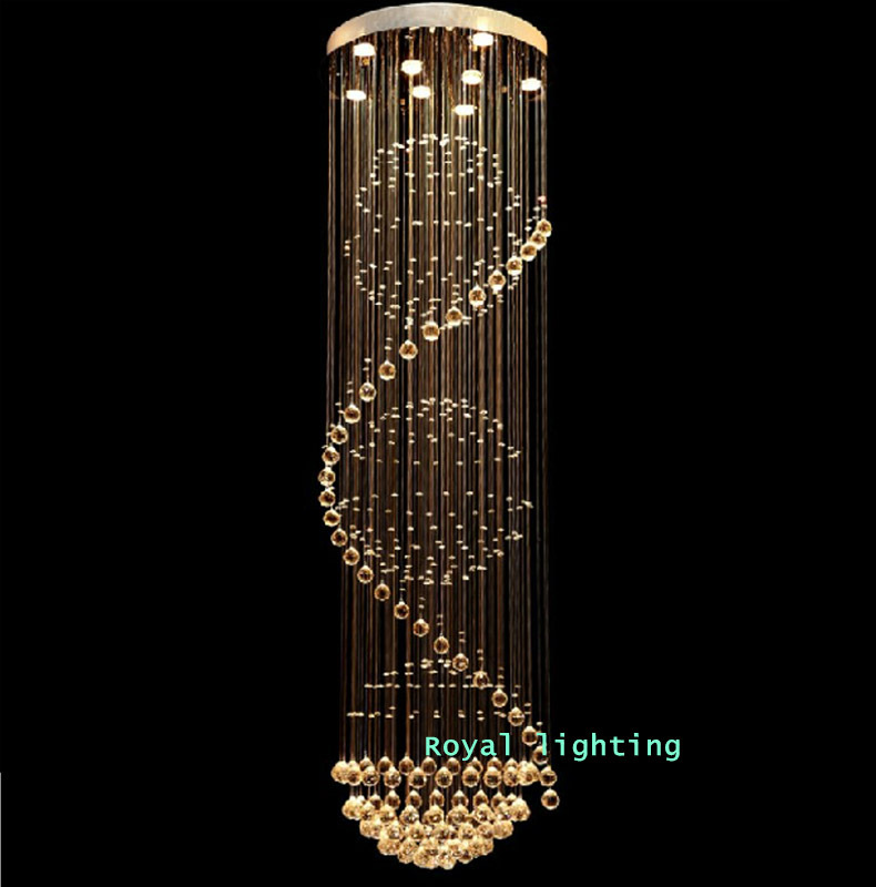 Aliexpress.com : Buy stairway crystal led chandelier lamps ...