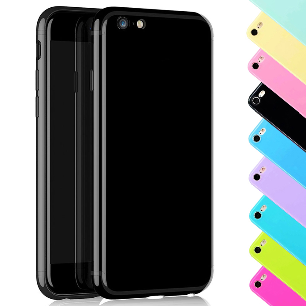 1930237e15 For iPhone 7 TPU Case Glossy Soft Silicone Gel Shockproof Jet Black Cover  Skin Phone Cases For iPhone XS Max 6 6s Plus 5 5s SE-in Fitted Cases from  ...