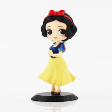 14cm Q Posket anime figure snow white princess doll Tinkerbell Sailor Moon Belle Action Figure model play house Toys for girls