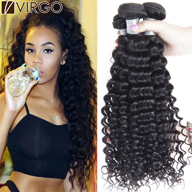 Aliexpress buy best 7a unprocessed brazilian virgin hair best 7a unprocessed brazilian virgin hair deep curly human hair weave 4 bundles virgin brazilian hair pmusecretfo Images