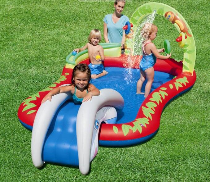 279cm Eco-friendly PVC Kids Baby Inflatable Slide Play Swimming Pool Piscina Children Kids Large Swim Boat S7012 381cm eco friendly pvc kids baby inflatable slide play swimming pool piscina children kids large swim boat s7010