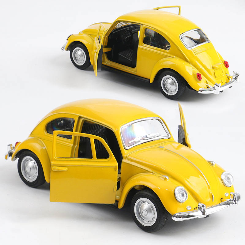 High Simulation Retro Classic Volkswagen Beetle, 1:36 Alloy Car Models, Metal Diecasts, Pull Back Toy Vehicles, Free Shipping