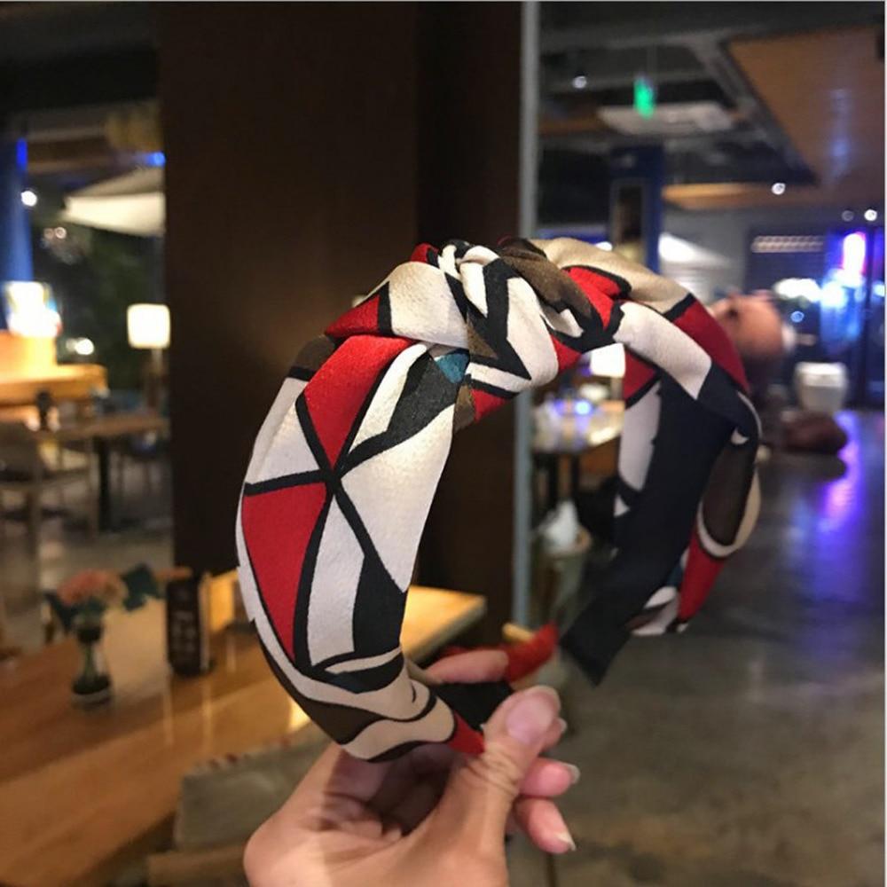 Fashion Hairband Leopard Headband For Women Classic Mosaic Hair Band Geometric Hair Accessories Wholesale