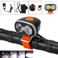 6000LM Front Bicycle Light Bike Headlight 2x XM L2 LED Bicycle Light With Battery And Charger