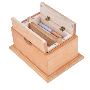 Wooden Puzzle Box with Secret Cigarette Case Magic Compartment Brain Teaser Wooden Toys Puzzles Boxes Kids Wood Toy Gifts(China)