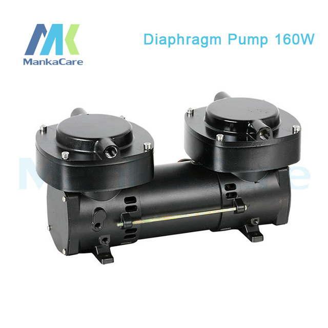 Manka Care -24V (DC) 136L/MIN 160W Oil free Diaphragm Vacuum Pump /Silent Pumps/Oil Less/Oil Free/Compressing Pump