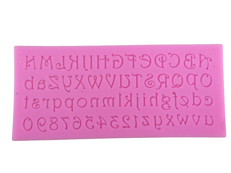 Números y letras del alfabeto B Sugarcraft Fondant cake herramientas moldes de l