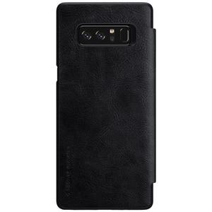 Image 4 - Nillkin Odwróć Case Do Samsung Galaxy Note 8 Qin Serii PU Skóra Pokrywa 4sfor Samsung Note 8 Przypadku