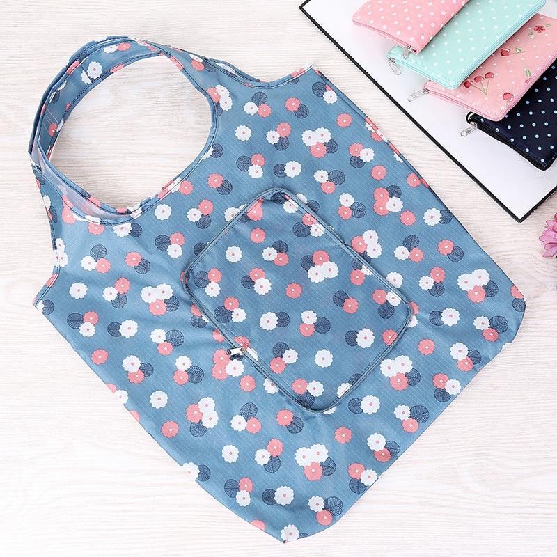 New Fashion Eco friendly Folding High Quality Shopping Bag Women