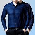 2016 New Plaid Fashion Men dress Shirts Slim Cotton Long Sleeve Plus Size 3XL Male Casual Shirts Camisa Business Men Shirt