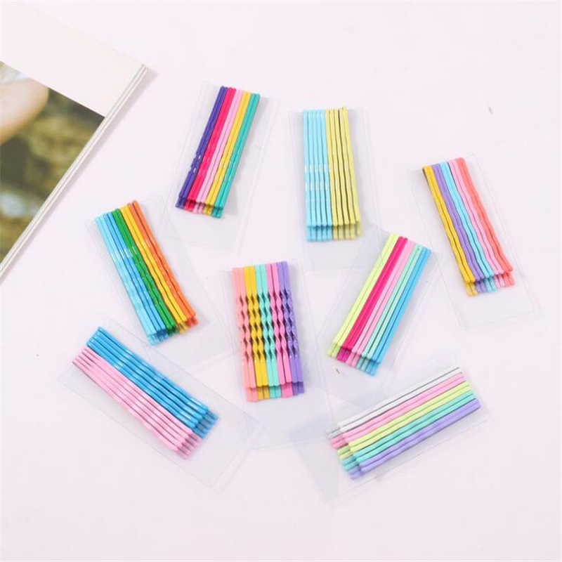 10 pcs/lot Women Girls Fashion Lovely Colorful Rainbow DIY Hair Clips Hair Accessories set Girls Candy Color Hairgrips   Headwears