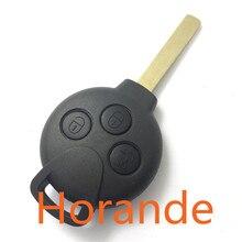Horande для Mercedes Benz 3 Кнопки Smart Fortwo Автомобиль Дистанционного Ключа Замена Корпуса с Кнопкой Оболочки