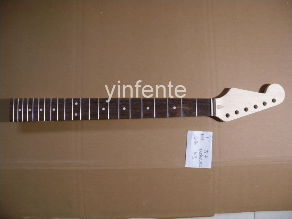 22 fret  648  mm  25.5  inch Unfinished electric guitar neck Maple made and rosewood  fingerboard   model 1pcs #3 neck and fretboard fingerboard for 26 inch tenor ukulele hawaii guitar parts maple and rosewood 18 fret