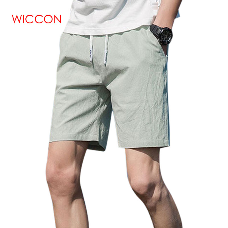 Summer Cotton Linen Shorts Youth Loose Men's Casual Shorts Comfortable Breathable Solid  Beach Shorts Male Plus Size M-5XL