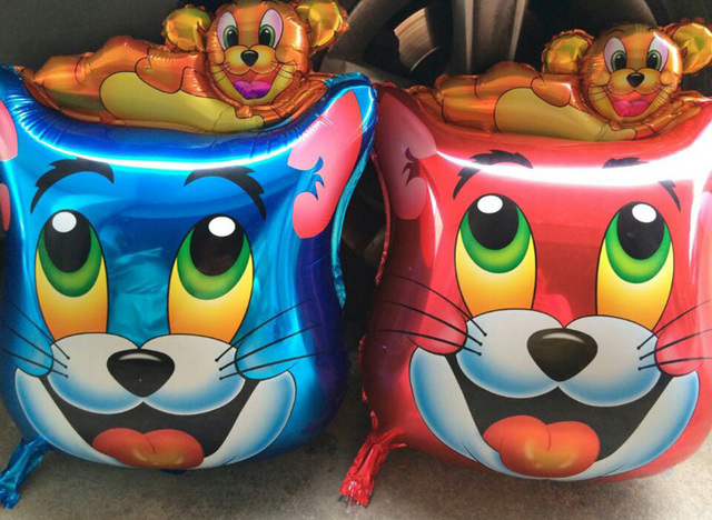 10pcs lots cat and rat tom and jerry Foil Balloon Birthday Party