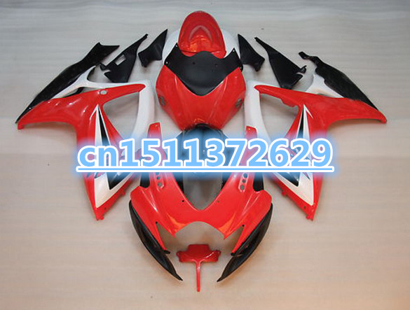 Bo Full set <font><b>Fairings</b></font> for A <font><b>GSXR</b></font> 750 <font><b>600</b></font> K6 2006 <font><b>2007</b></font> OEM <font><b>fairings</b></font> GSX-R600 GSXR750 06 07 white red black image