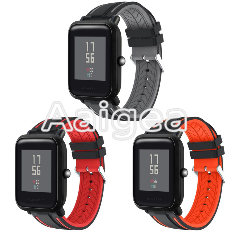 Soft Silicone Replacement Strap Durable For Huami Amazfit Bip BIT PACE Lite Youth Smart Watch Sports watchbands for amazfit bip hangrui replacement watch strap for xiaomi huawei bip bit pace lite youth smart watch band accessories for huami amazfit youth
