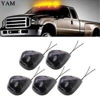 5 Stücke Cab Seitenmarkierungsumrissleuchte 12 V 6 Watt 9 LED Auto Dach Tagfahrlicht Geraucht Lampe Bernstein Für SUV Lkw