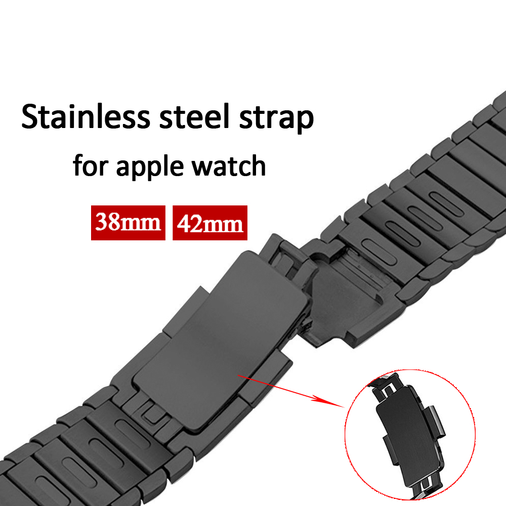 Link Bracelet Strap for Apple Watch 3/2/1 42mm 38mm band Stainless Steel metal buckle watchband for iwatch 3/2/1 Removable band new arrival diamond stainless steel band for apple watch band strap link bracelet 38mm 42mm smart watch metal band for iwatch