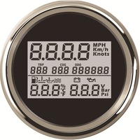 1pc 3 In 1 Multifunction 85mm Digital GPS Speedometer 9 32v Voltmeter Fuel Level & Water Level Gauge Oil Temp Gauge Oil Pressure