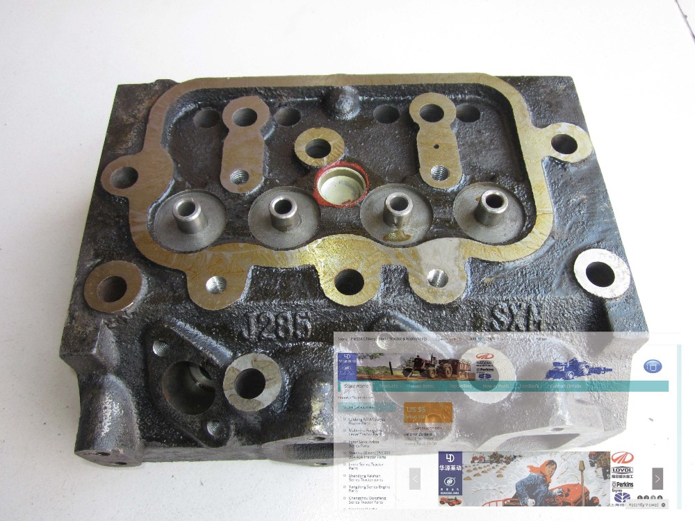 Fengshou FS180 184 tractor, the cylinder head of engine J285T, part number: fengshou estate 180 184 the cylinder head hood part number j285 01 301a