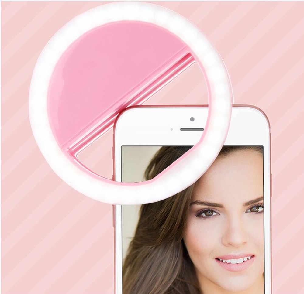 Selfieリングミラー化粧ケース用箱舟給付m4 m5プラスm6 m7 s451 s501 u2デュアルledライトフラッシュアップandroid携帯電話カバー