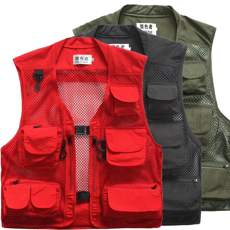 Fly Fishing Vest Quality Outdoor Fishing Clothes Jackets Camera Waistcoat Mulit pocket Clothes for Sea Fishing