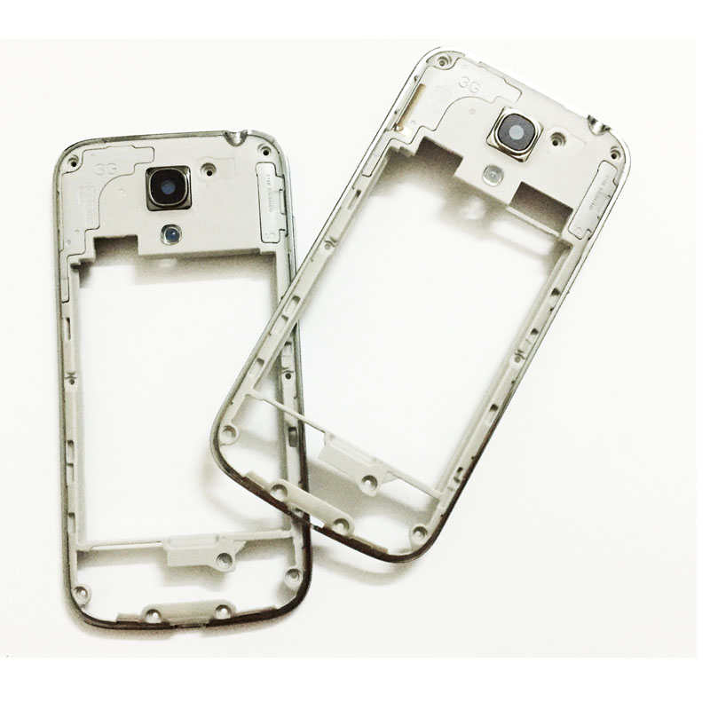 For Samsung Galaxy S4 Mini I9190 I9192 I9195 Middle Frame Bezel Case Cover With Glass Lens+Side Button Key Replacement Parts