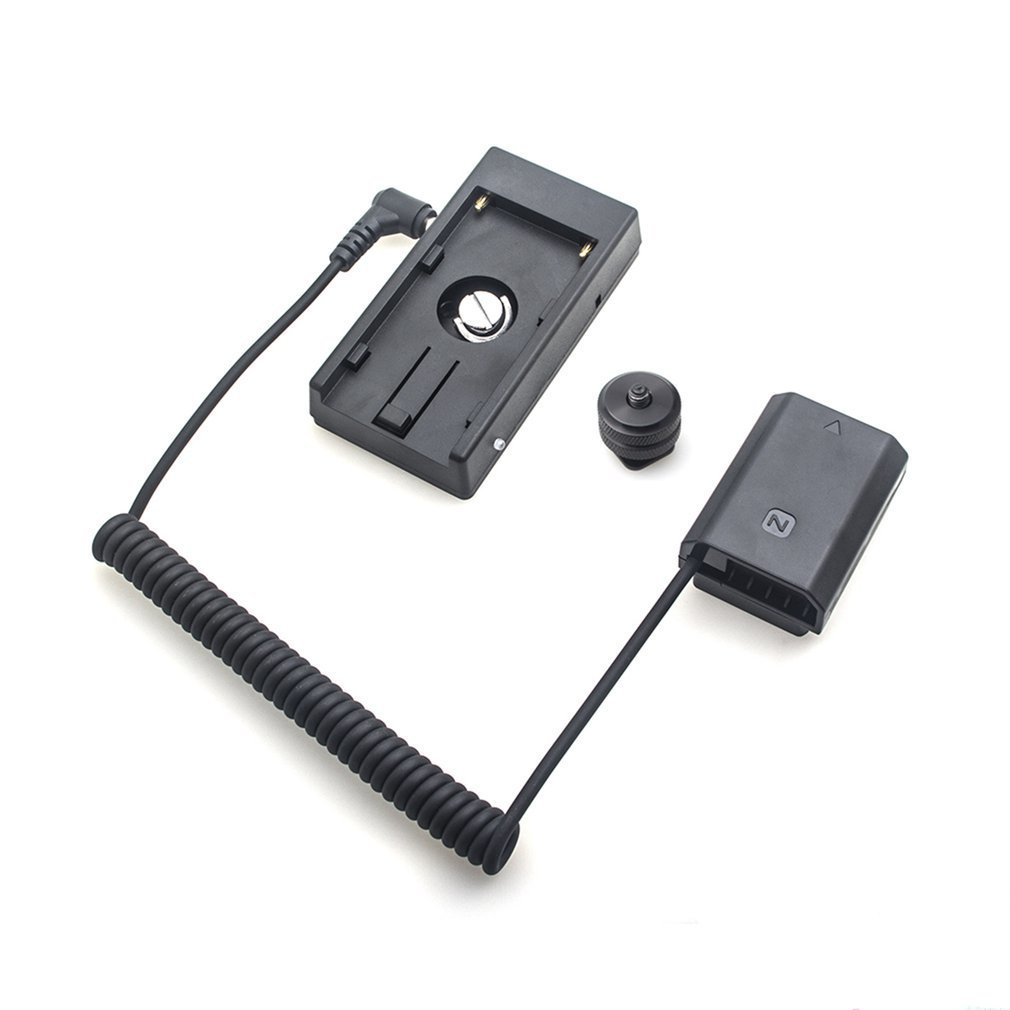 Мощность адаптер NP-FZ100 полный декодирования манекен Батарея + F970 Батарея Монтажная пластина адаптер Весна кабель для sony серии