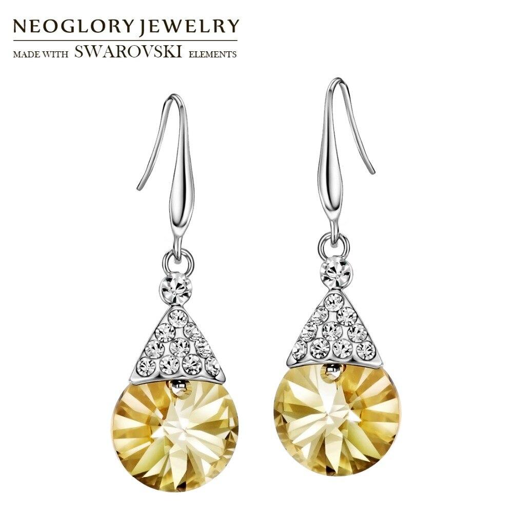 Neoglory Austria Crystal   Rhinestone Long Drop Earrings Geometric Stylish  For Women Party Classic Vintage Design Sale-in Drop Earrings from Jewelry  ... 580399f24e4d