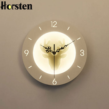 Modern Clock Wall Lamps For Living room Bedroom 22W Sconce Wall Lights White Indoor Lighting Lamp LED Wall Light Indoor Lighting