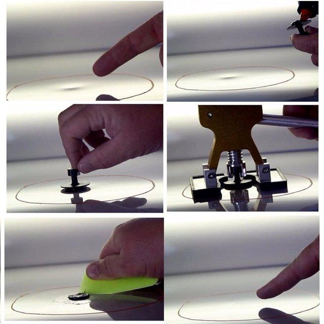 18 Pcs Purple Car Body Paintless Dent Hail Repair Tool Plastic Glue Puller Tabs Pad Automobile Repair Tools Set
