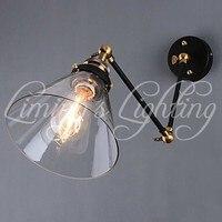 Vintage Retro Loft Stil Industrie Jahrgang Wandleuchte Antike Lampe Kegel Metall  Edison Wandleuchte Lamparas De Pared|lamp purse|lamp timerlamp table lamp -